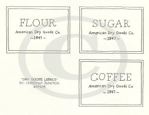 Dry Goods Labels Embroidery ePattern