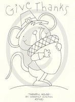 Thankful Mouse Embroidery ePattern
