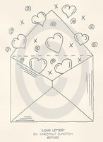 Love Letter Embroidery ePattern