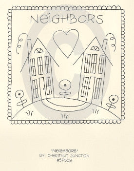 Neighbors Embroidery ePattern