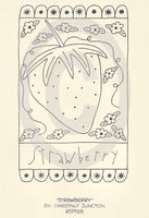 Strawberry Embroidery ePattern