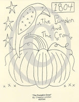 The Pumpkin Crow Embroidery ePattern