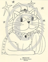 Witchie Cat Embroidery ePattern