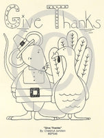 Give Thanks Embroidery ePattern