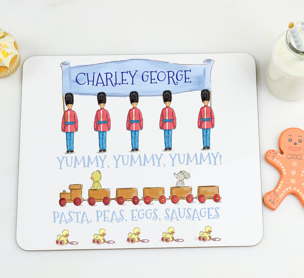 Boy's Personalised Placemat 'London Soldiers' - Lily Summery