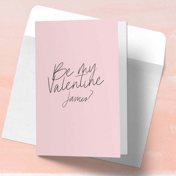 "Personalised Valentines day card ""Be mine"" - Lily Summery"