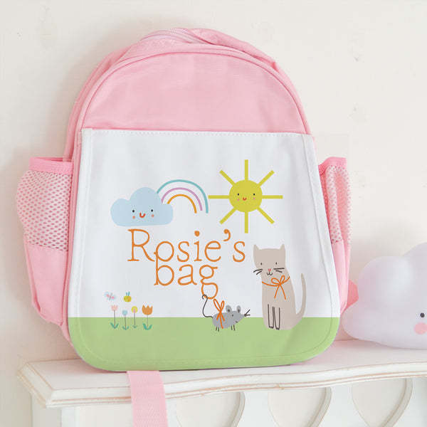 Personalised Cat school bag - Lily Summery