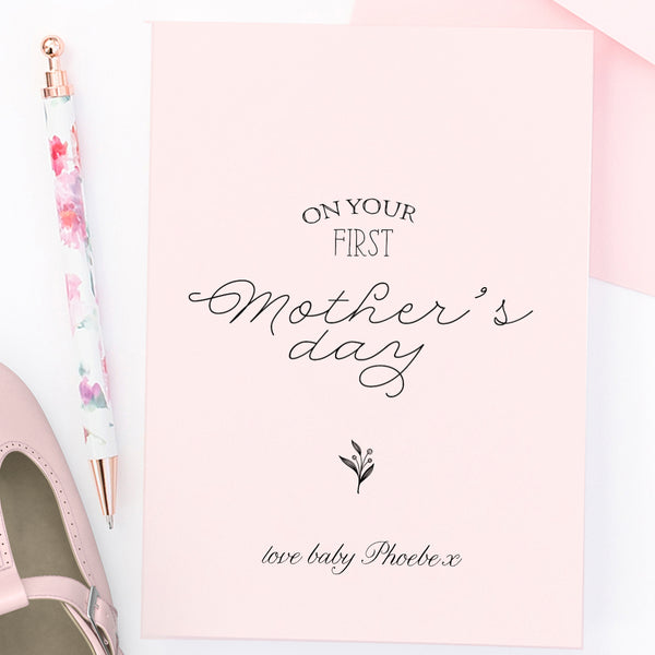Personalised First Mother's day card - Lily Summery
