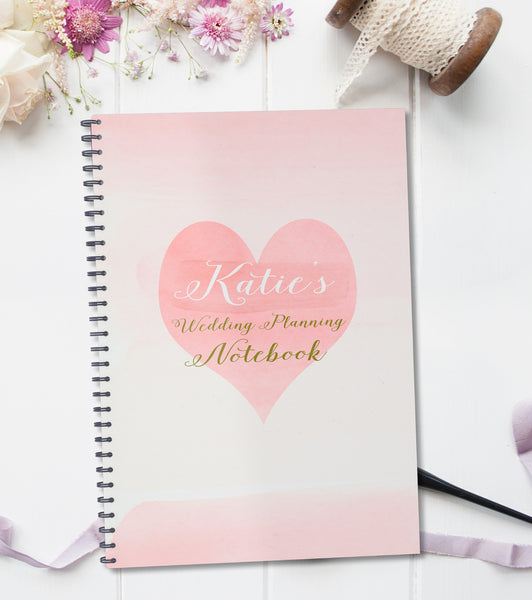 Personalised Wedding Planning Notebook Gift - Lily Summery