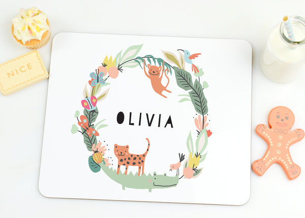 "Children's Personalised Placemat ""Jungle"" - Lily Summery"