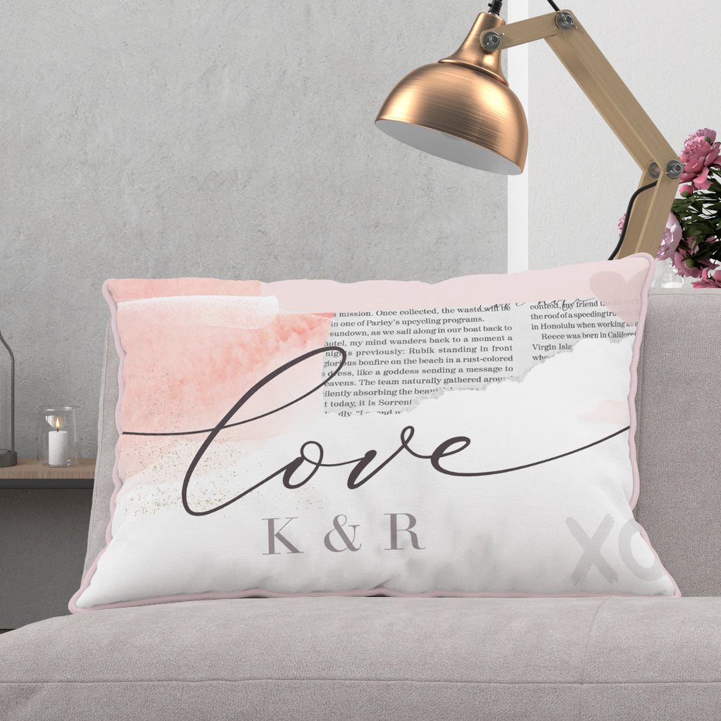 "Personalised oblong cushion  ""Love Collage"" - Lily Summery"