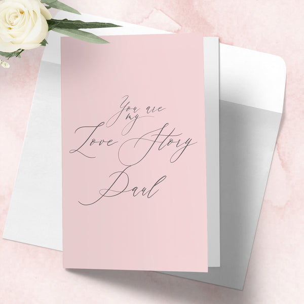 "Personalised Valentines day card  ""Love story"" - Lily Summery"