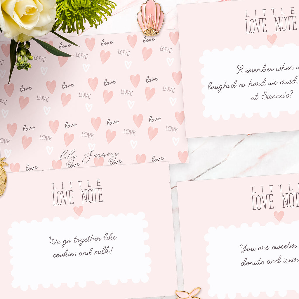 "Personalised Valentines Love notes  ""Little Paris"" - Lily Summery"