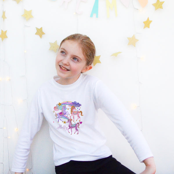 Personalised Unicorn top - Lily Summery