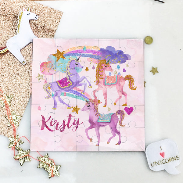 Personalised Unicorn puzzle - Lily Summery