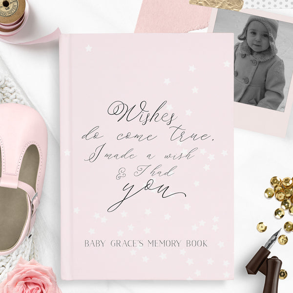 "Personalised baby memory book ""Wishes"" - Lily Summery"