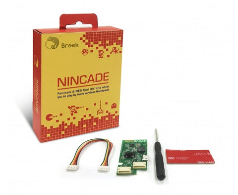 Nincade by Brook (Use Wireless Controllers from Switch / PS4 / 8Bitdo) for NES and SNES Mini