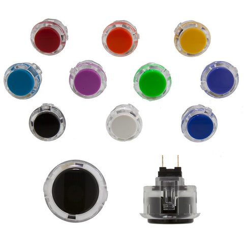 Sanwa Denshi 24mm HALF CLEAR Pushbutton ( OBSC24 / HALF CLEAR )