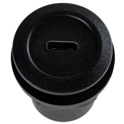 USB C to A Round Panel Mount Adapter