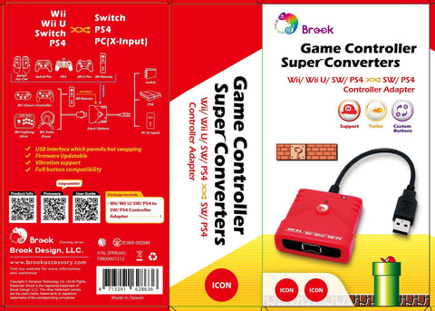 BROOK Wii / Wii U / SW / PS4 to SW / PS4 / PC Super Converter