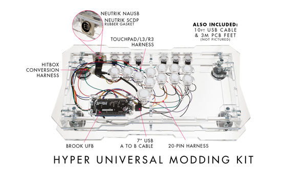 UNIVERSAL MODDING KIT: HYPER EDITION w/Brook UFB / Custom
