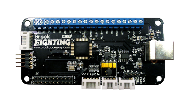 Brook Universal Fighting Board (PS3 | PS4 | Xbox 360 | Xbox One | PC | WIIU | Switch | NEO•GEO Mini) w/ 20-Pin and Pre-Soldered Headers