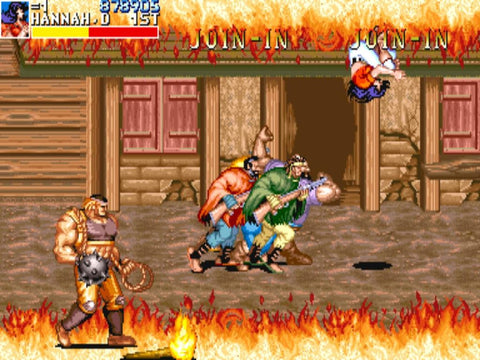 Cadillacs and Dinosaurs CAPCOM CPS1 (2D Beat 'em Up)