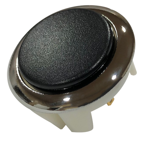 Hori Hayabusa Two Tone Matte Black / Metallic Silver Body Pushbutton (30mm)