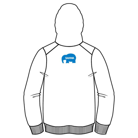 SANWA DENSHI ELEPHANT BUTTON MASHER PULLOVER HOODIE