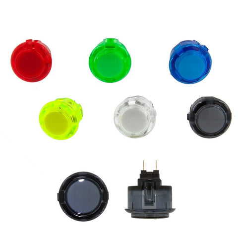 Sanwa Denshi 24mm CLEAR Pushbutton OBSC24 - XX  [Snap-In]