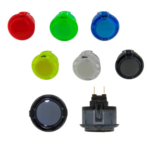 Sanwa Denshi 30mm CLEAR SILENT Pushbutton ( OBSCS30 )