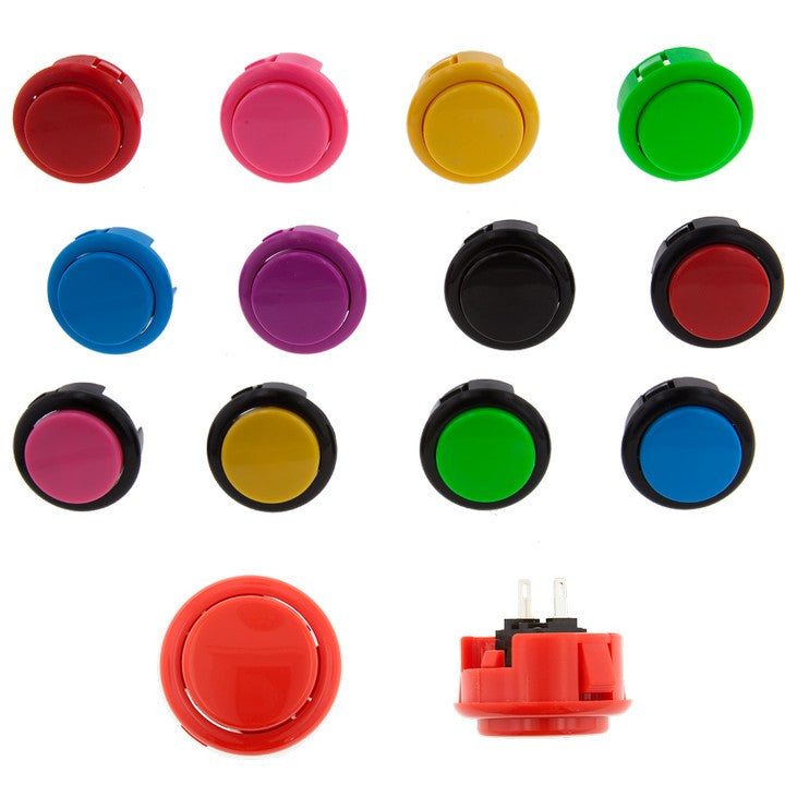 SEIMITSU PS-15 Solid Color (Short Throw) Pushbutton (30mm Snap In)