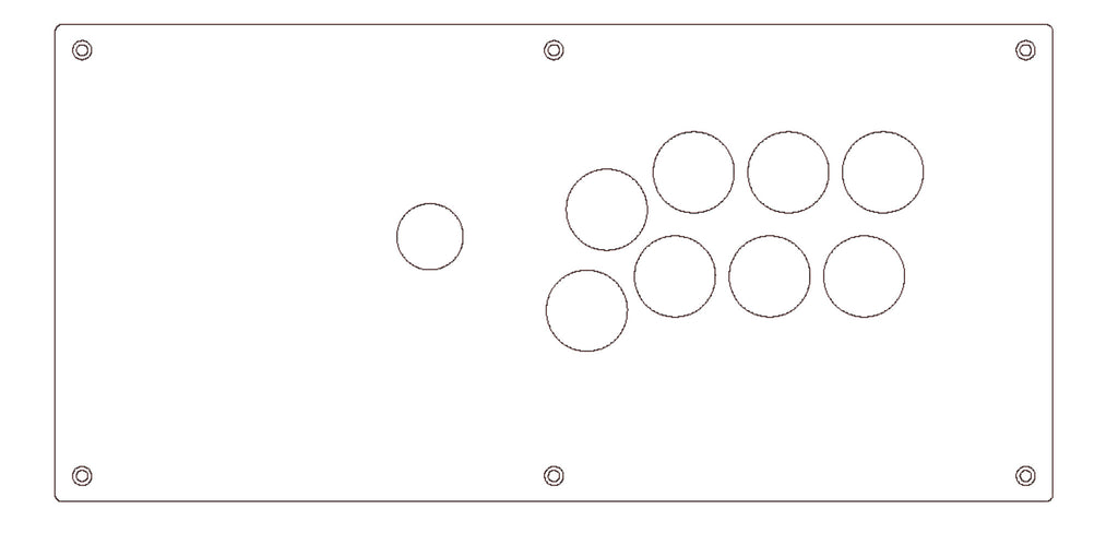 QANBA Q2 PRO FIGHT STICK PLEXI OVERLAY