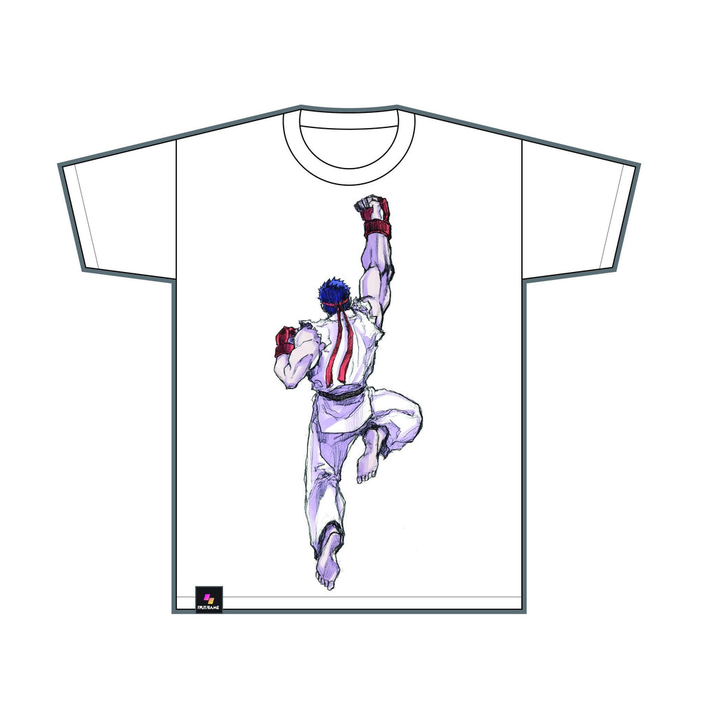 RYU (Invincible Shoryuken) White Tee ANNIVERSARY SALE 50% OFF