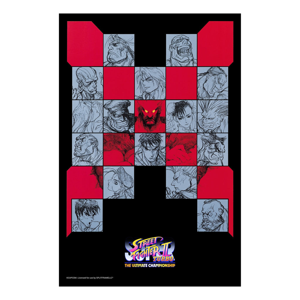 "Super Street Fighter II Turbo Poster (24 x 36"")"