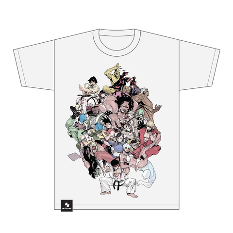 Street Fighter III: 3rd Strike Breaking Back Tee (White) by Motoki Yoshihara [FGC PROMO 30% OFF]