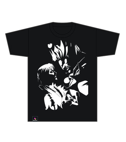 Street Fighter Alpha 2 Silhouette (Black Tee) [FGC PROMO 20% OFF]