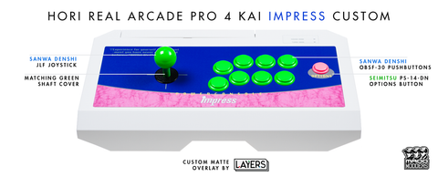 HORI RAP4 Kai Customized by LAYERS FGC [ARCADE EDITION] PS3/PS4/PC