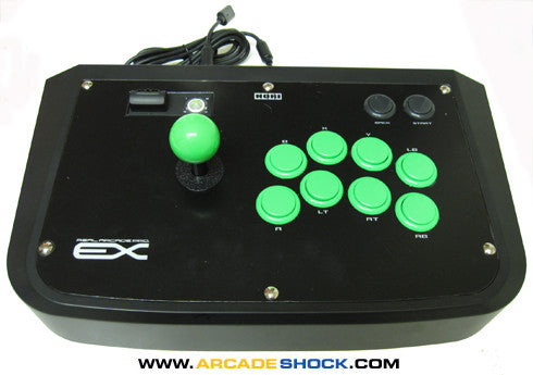 HORI Real Arcade Pro EX (Custom - Sanwa Parts) Xbox 360 GREEN ENVY