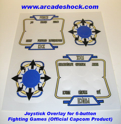 Joystick Overlay (6-Button Fighting Games)