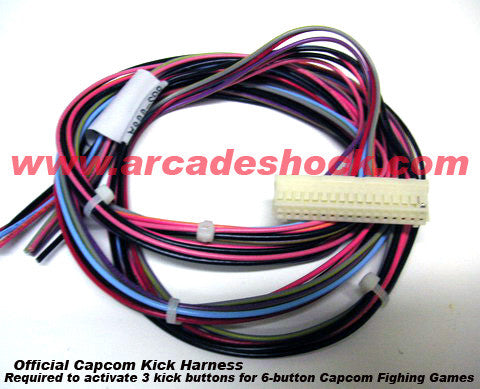 Kick Harness/Aux Cable (Official Capcom Coin-Op Product)
