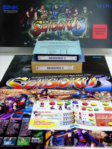 SNK NEO•GEO MVS Sengoku 3 Kit (w/Large Marquee Included)