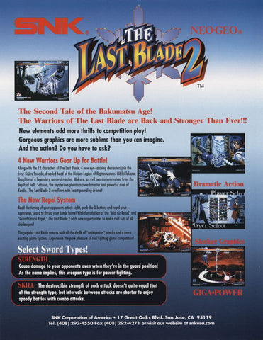 Last Blade 2 Arcade Flyer (English Version)