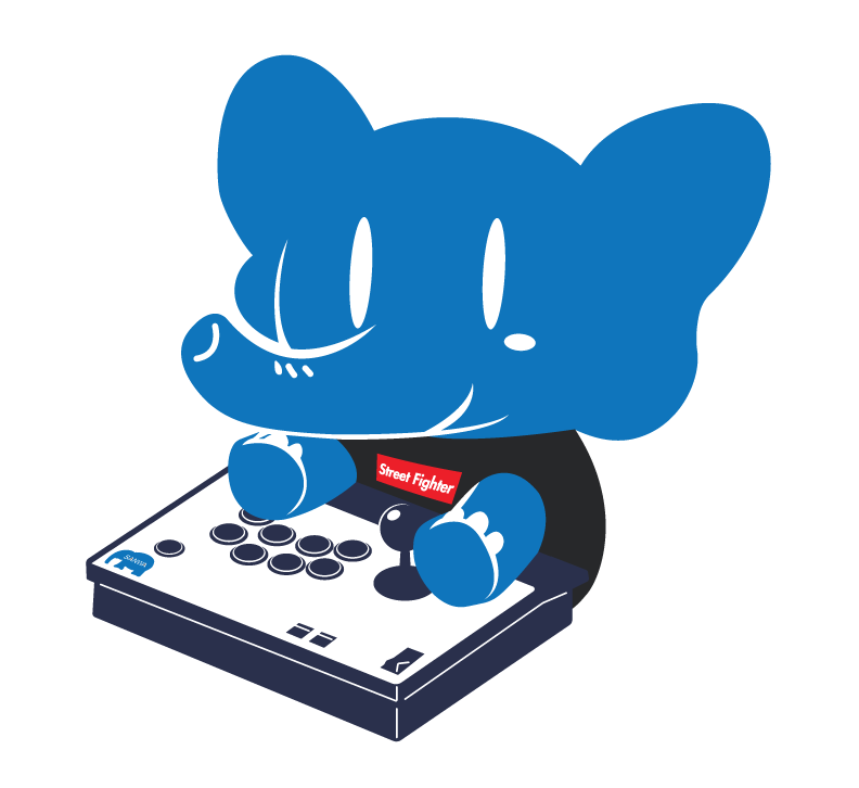 SANWA DENSHI ELEPHANT MASHER X STREET FIGHTER TEE