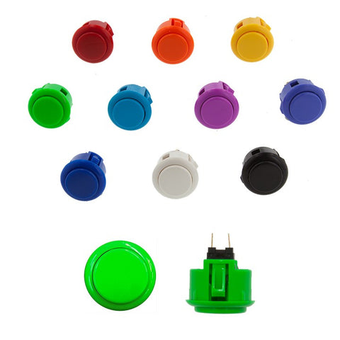 Sanwa Denshi 24mm SOLID COLOR Pushbutton ( OBSF24 - XX )