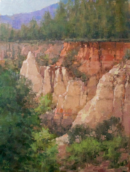 """Painted Cliffs at Providence Cliff"" by John Guernsey"
