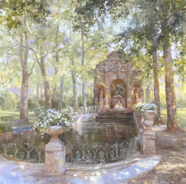 """Medici Fountain"" by Christine Lashley"