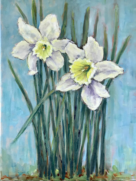 """Daffodil Duo, Turquoise"" by Blair Mann"