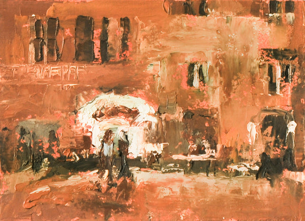"""Roman Cafe Color Study #1""  by Celeste McCollough"
