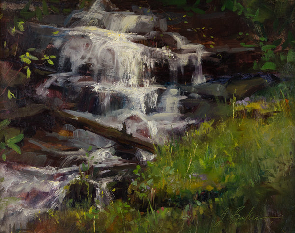 """Spring Waterfall"" by Suzie Greer Baker"